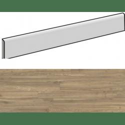 Plinthe aspect bois moderne ANDRIA FUME grand format - 6,5X120- 8 Unités