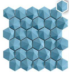 Mosaique originale colorée à relief HORTA BLUE 34X32,6 - 0,89m²