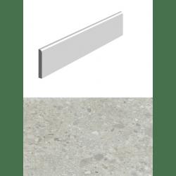 Plinthe pour carrelage gris imitation pierre 10x60cm HANNOVER STEEL NATURAL - 15 unités