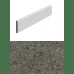 Plinthe pour carrelage anthracite imitation pierre 10x80cm HANNOVER BLACK NATURAL - 14 unités