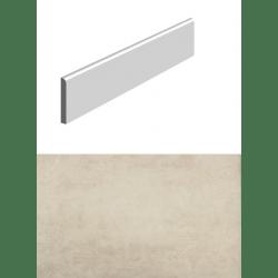 Plinthe pour carrelage pour sol imitation BETON BEIGE 8x34 cm - 1 unité