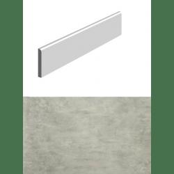 Plinthe pour carrelage pour sol imitation BETON GRIS 8x34 cm - 1 unité