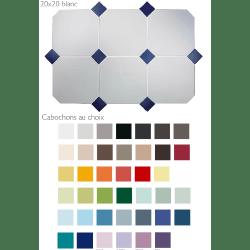 Carrelage 20x20 blanc octogone avec cabochons CERAME BRILLANT - 1.5m²
