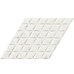 Lot de 10,78 m² - Carrelage losange blanc marbré statuario 70x40 DIAMOND CALACATTA WAVES - Lot 10.78m²
