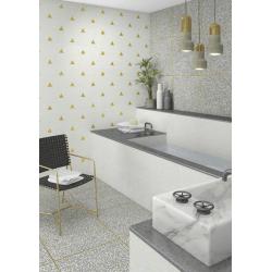 Lot de 14.04 m² - Carrelage imitation granito terrazzo 60x60 cm PORTOFINO Cemento - 14.04 m²