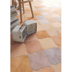 Lot de 3.78 m² - Carrelage provençal 20x20cm décor terre cuite Provenzal Cameley Multicolor