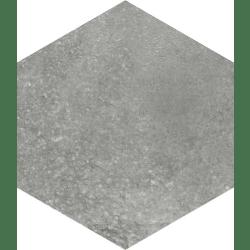 Lot de 2.52 m² - Carrelage hexagonal tomette anthracite vieillie 23x26.6cm RIFT Grafito - 2.52 m²