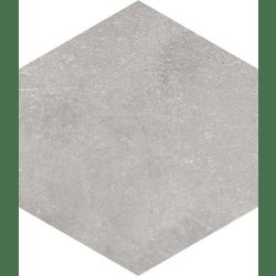 Lot de 3.024 m² - Carrelage hexagonal tomette grise vieillie 23x26.6cm RIFT Cemento - 3.024 m²