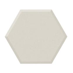 Lot de 1.82 m² - Carrelage tomette design unie Blanc cassé FARINA BISEAUTÉ 15x17cm NEW PANAL - 1.82 m²