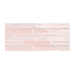 Lot de 12 m² - Chevron effet zellige rose nuancé 5x25 cm PIASTRELLA ROSE MIX - 12 m²
