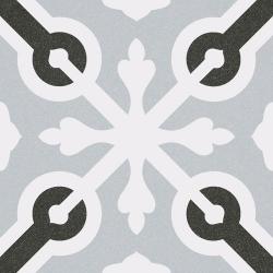 Carrelage imitation ciment croix grise et noire 20x20 cm LLAGOSTERA - 1m²