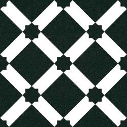 Carrelage style ciment blanc noir géométrique 20x20 cm 1900 PALAU GRAFITO - 1m²