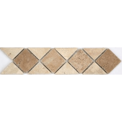 Frise pierre 512 Travertin Beige - Travertin Noce 28.5x7 cm - unité SF