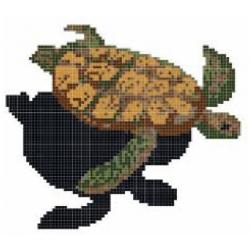 Décor tortue mosaique piscine 200x200 cm - unité