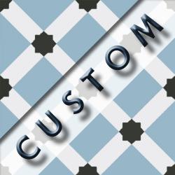 Carreau imitation ciment personnalisable 20x20 cm CUSTOM DAMA R9 - 0.96m²