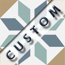 Carreau imitation ciment personnalisable 20x20 cm CUSTOM GEOMETRIQUE R9 - 0.96m²