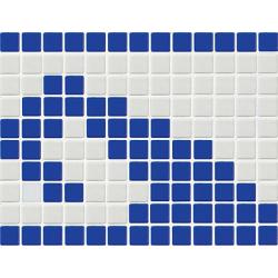 Frise piscine vague bleue 33.3x25 cm 7001 Olas - unité