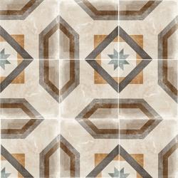 Carrelage imitation carreau de ciment ancien décor Grès Cérame 60x60 cm TEMPO CELENO - 1