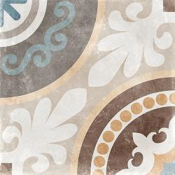 Carrelage imitation carreau de ciment ancien décor Grès Cérame 60x60 cm TEMPO NAOS - 1.44m²
