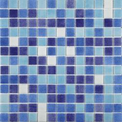 Mosaique piscine mix de bleu et blanc 7524 JAEN 31.6x31.6 cm - 2 m²