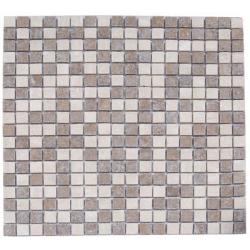Mosaique marbre multicouleur 1 1.5x1.5 cm - unité Barwolf