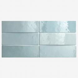 Carrelage effet zellige 6.5x20 ARTISAN BLEU AQUA 24468 - 0.5m²