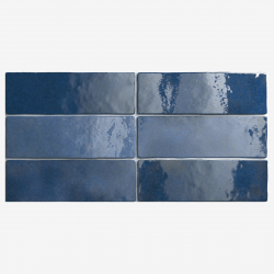 Carrelage effet zellige 6.5x20 ARTISAN BLEU COLONIAL 24470 - 0.5m²