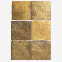 Carrelage effet zellige 13.2x13.2 ARTISAN OR GOLD 24463 - 1m²