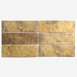 Carrelage effet zellige 6.5x20 ARTISAN OR GOLD 24473 - 0.5m²