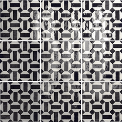 Carrelage effet zellige 13.2x13.2 ARTISAN LUNAS NOIR ET BLANC 24514 - 1m²