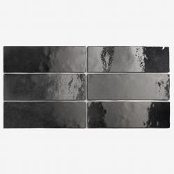 Carrelage effet zellige 6.5x20 ARTISAN NOIR GRAPHITE 24472 - 0.5m²