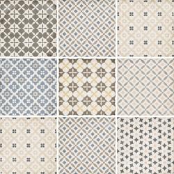 Carrelage style ciment patchwork 20x20 cm ART NOUVEAU ALAMEDA COLOUR 24412 - 1m² Equipe