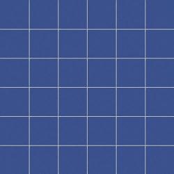 Mosaique bleu barbeau 5x5 sur trame 30x30 cm AVIO MATT- 1m²