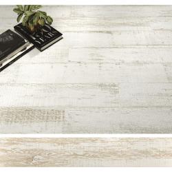 Carrelage parquet rectifié blanc vieilli CAYENNE R10 20x114 cm - 1.14m²