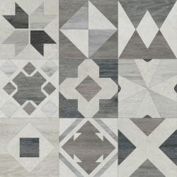Carrelage parquet à motif ciment rect. PHUKET MIX SILVER R10 60x60 cm - 1.08m²