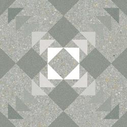 Carrelage style Pop/Seventies inspiration Art Déco 20x20 cm BENACO MAR 1m²