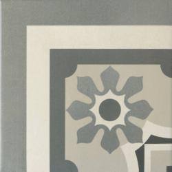 Carrelage imitation ciment rosace 20x20 cm CAPRICE CHATELET Angle - unité