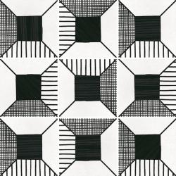 Carrelage imitation ciment 20x20 cm CAPRICE DECO BLOCK B&W 22122- 1m²
