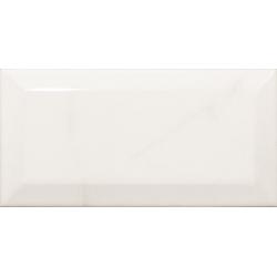 Carreau métro Blanc brillant marbré 7.5x15 cm CARRARA GLOSS - 0.5m²