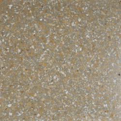 Carreau terrazzo véritable pleine masse Jaune orangé gris 40x40 cm ref PP16 - 0.80m²