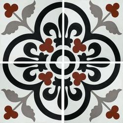 Carreau de ciment lys et fleurs 20x20 cm ref7310-2 - 0.48m²