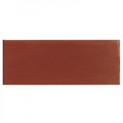 Plinthe de carreau de ciment véritable unie CHOCOLAT 10x20 cm - 4mL