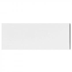 Plinthe de carreau de ciment véritable unie BLANC NEIGE 10x20 cm - 4mL
