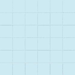 Carrelage uni 5x5 cm AZZURO MATT sur trame - 1m²