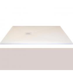 Receveur extra-plat CLASSIC PIZARRA CRETA - bonde latérale