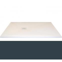 Receveur extra-plat CLASSIC PIZARRA GRAPHITE - bonde latérale