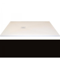 Receveur extra-plat CLASSIC PIZARRA NOIR bonde latérale