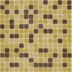 Mosaique piscine Mix Mou Jaune Marron 32.7x32.7 cm - 2.14m²