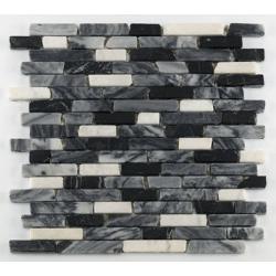Mosaique marbre noir Barwolf