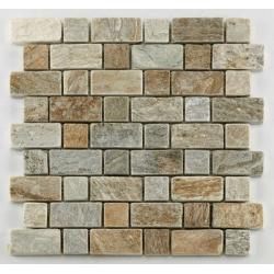 Mosaique quartzite 3x3 - 4.8 cm - unité Barwolf